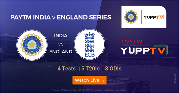 Paytm IND vsWatch the third Test Live Streaming from 24th February on YuppTV